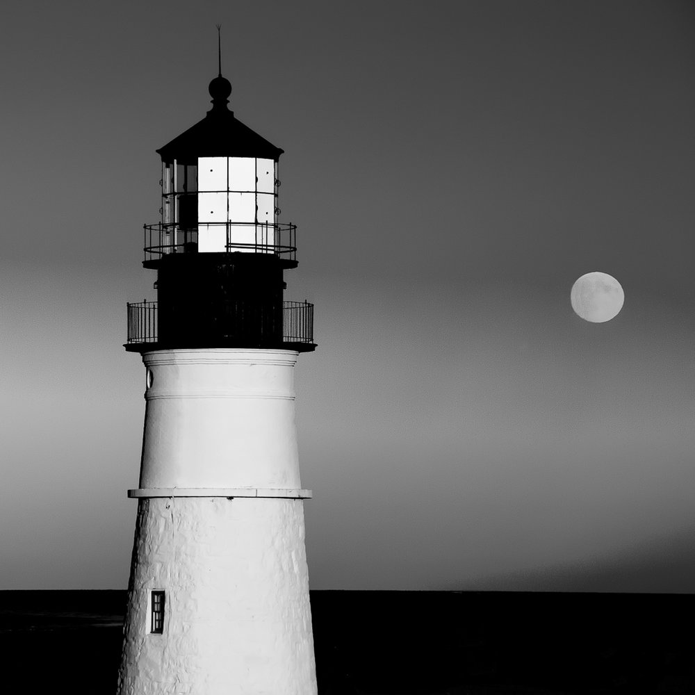 Harvest Moon - Portland Head Light