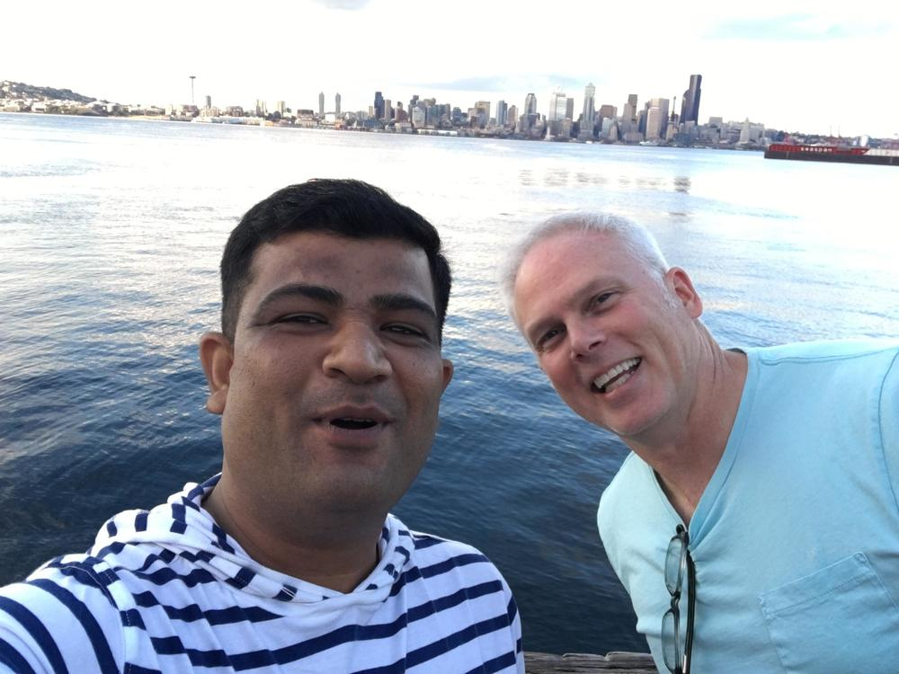 The next day he got a Lake Union selfie with Paul Haury.