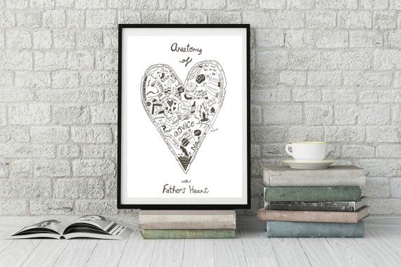 SHIPS TO CANADA ONLY!! Anatomy of a Father\'s Heart silkscreen print ...