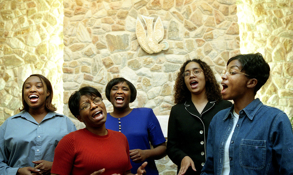 The gospel singing group Full Assurance. All the members learned to sing in the Seventh Day Adventist Church.