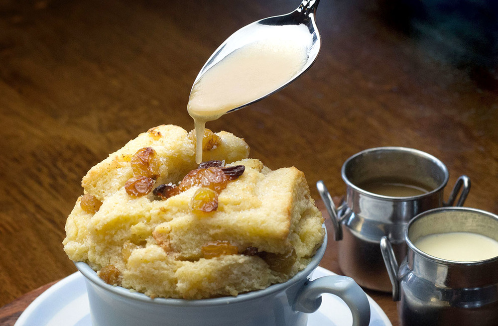 Ger's bread and butter pudding. Photo by Tom Burton