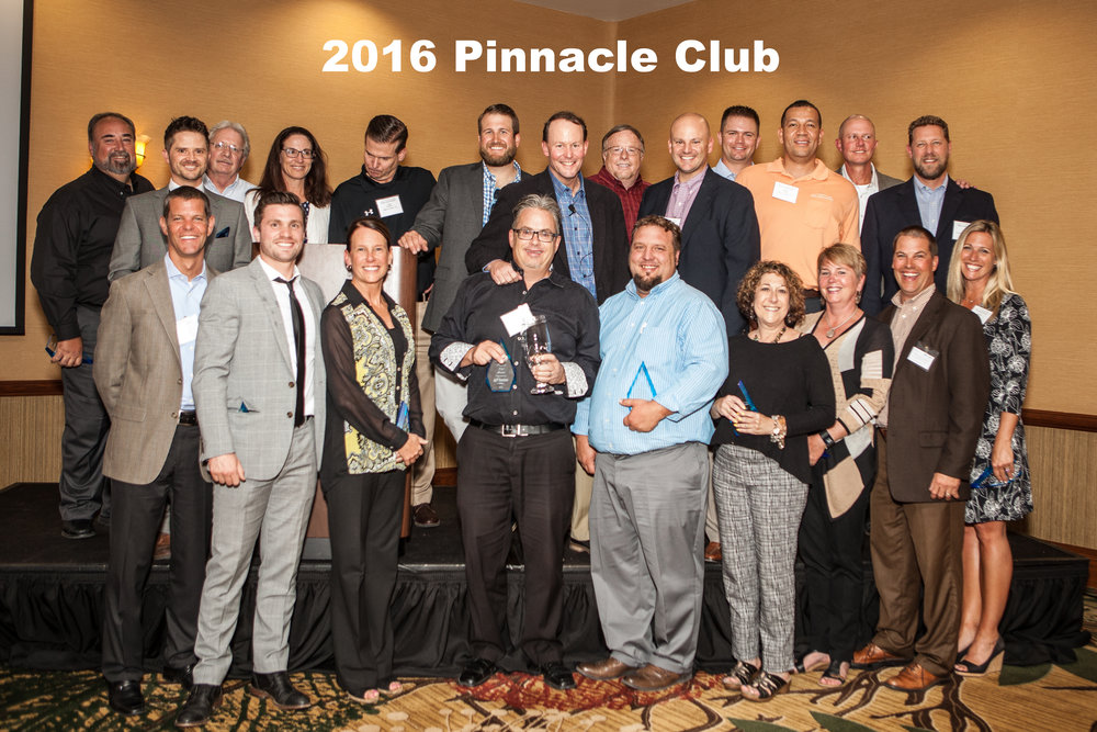 - 2016 Pinnacle Club Members