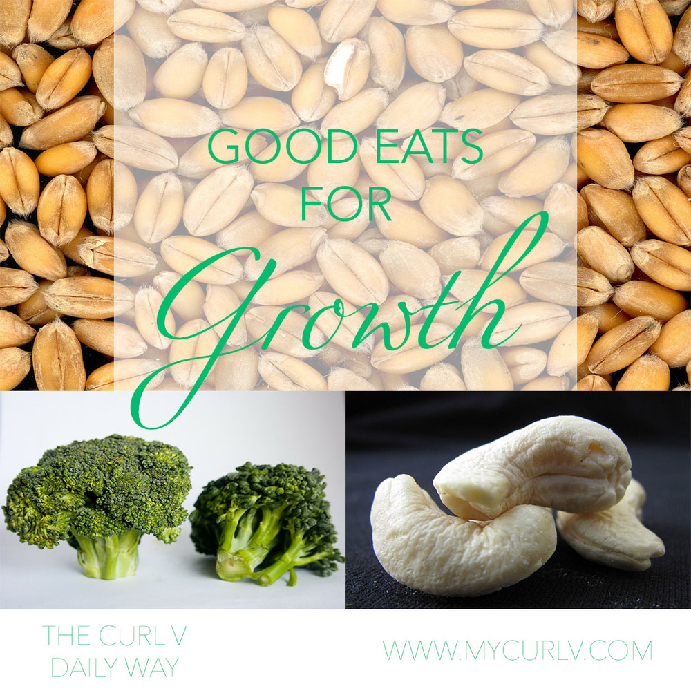 Foods such a whole grains, broccoli and cashews give hair the vitamins and nutrients needed to combat breakage and help retain length.