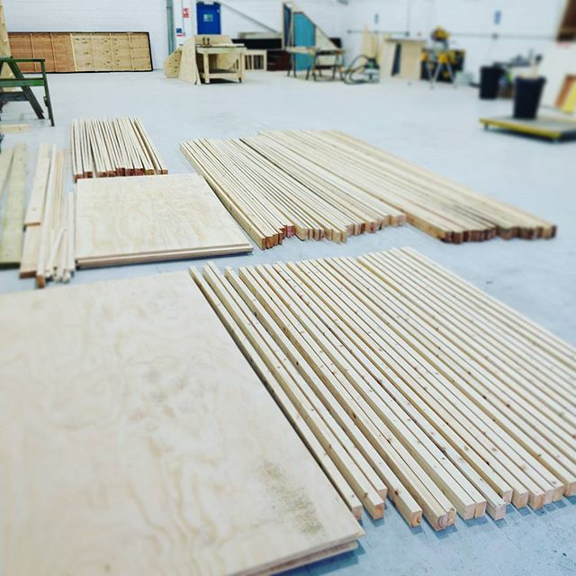 Here goes another theatre set build. #setbuild #setbuilding #setbuilder #southcoast #timber #dewalt #theatre #theatreset