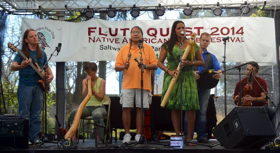 W/ Rona Yellowrobe and Joseph Firecrow, Flute Quest 2014