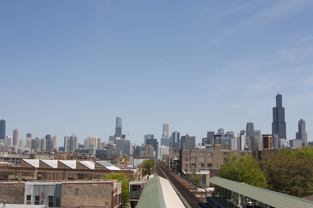 Exploring Chicago by train.