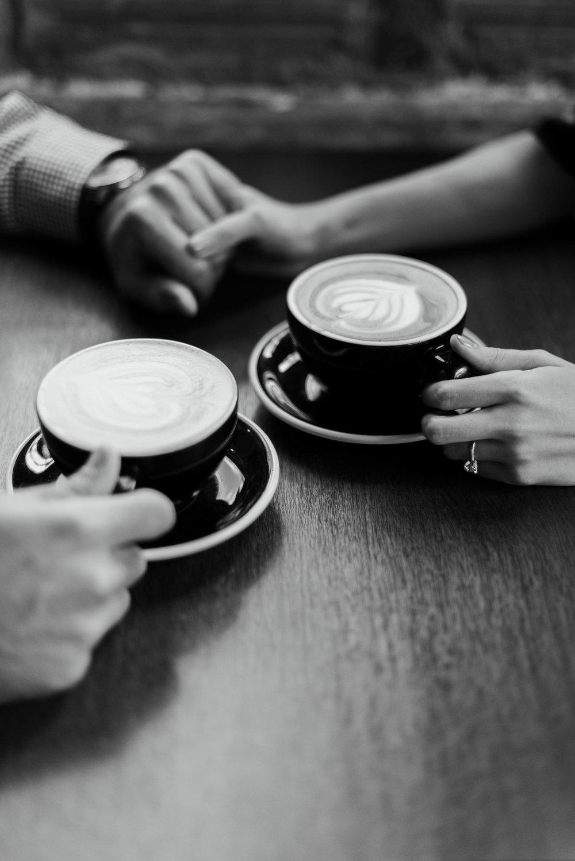 Houston Coffeeshop Engagement Session