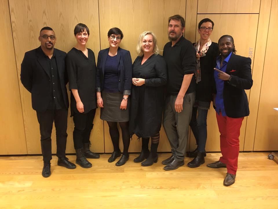 Styrelsen för Mångfaldsföretagarna. Från Vänster:Barakat Ghebrehawariat, Lotta Björkman, Åsa Gustafsson, Anna Delsol, Dennis Kullman, Malin Månson och Caxton Njuki.