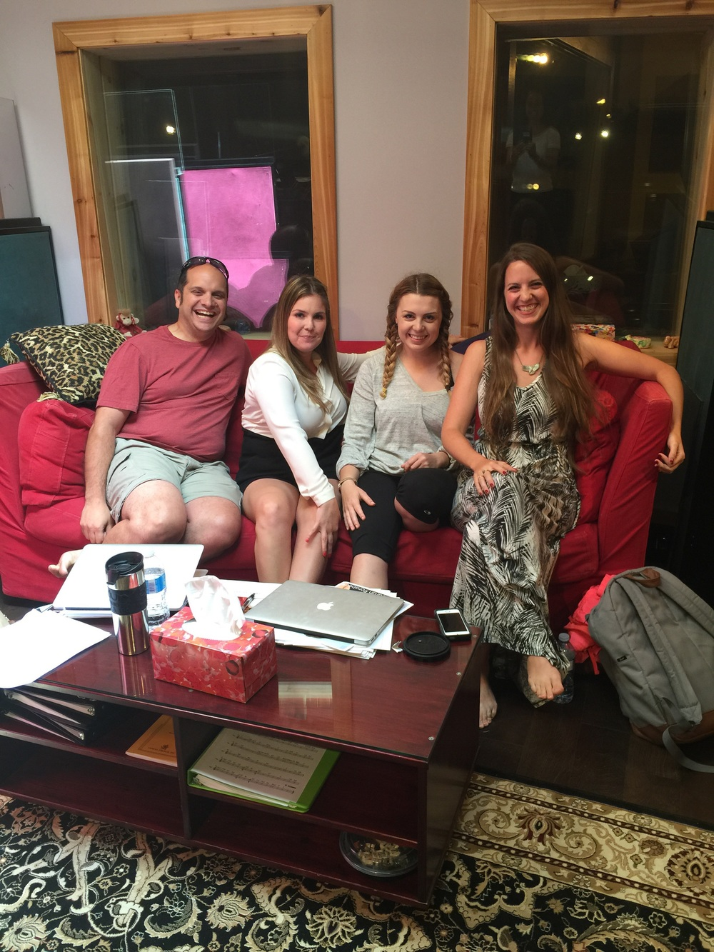 Hanging with the casting crew (Jen Smardenkas, Rebecca Moran and Sheena Clowater)