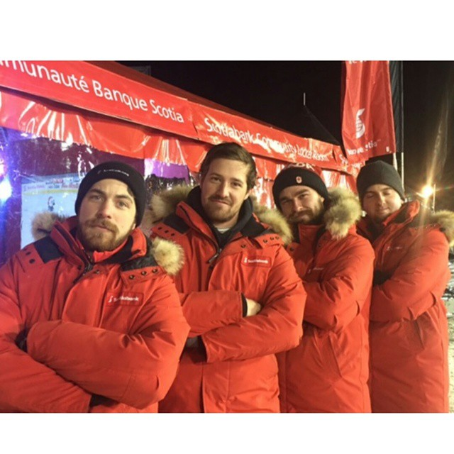 S&E Activation Team representing Scotiabank at Rogers Hometown Hockey