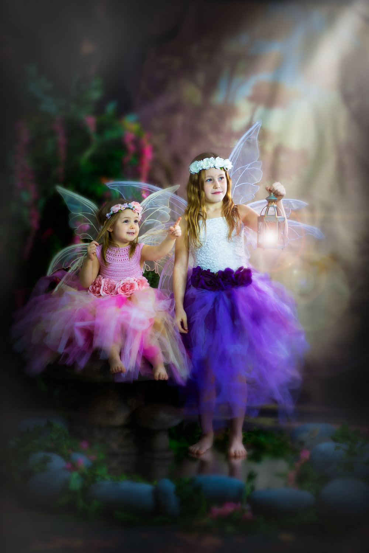Children's storybook fairy portraits