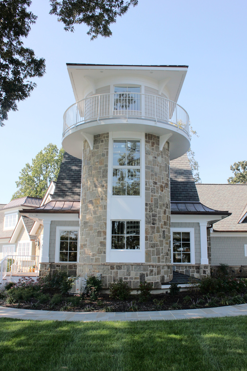 AFTER  -  Lighthouse Inspired Renovation for Waterfront Home