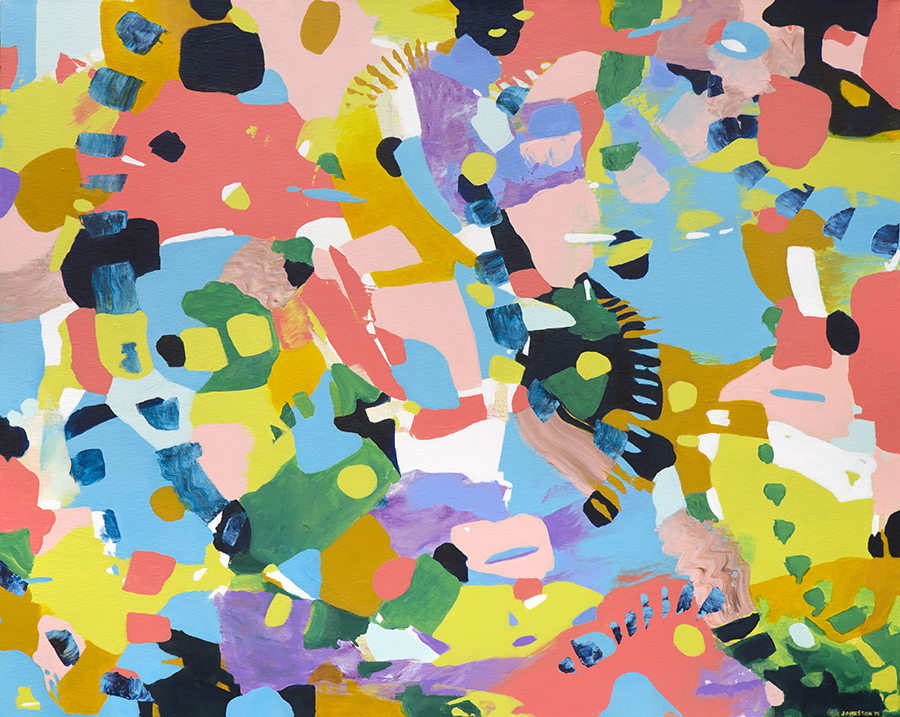 """Laura Johnston 28 (But Who's Counting?) 30x24"""" acrylic on canvas 2015"""
