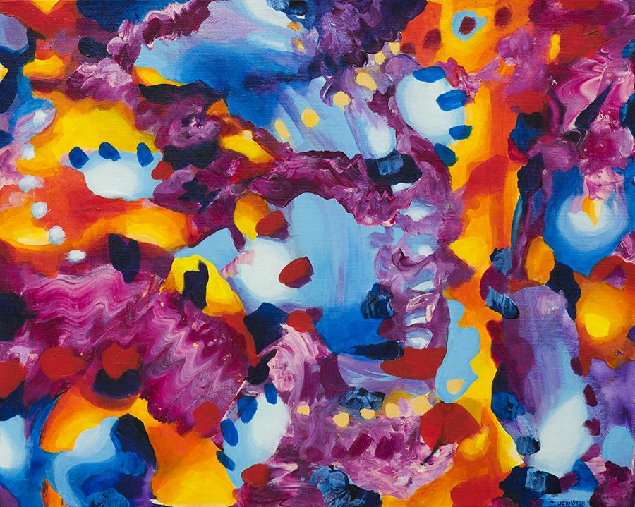 "Laura Johnston A Taste for Trust & Tagines 20x16"" acrylic on canvas 2015"