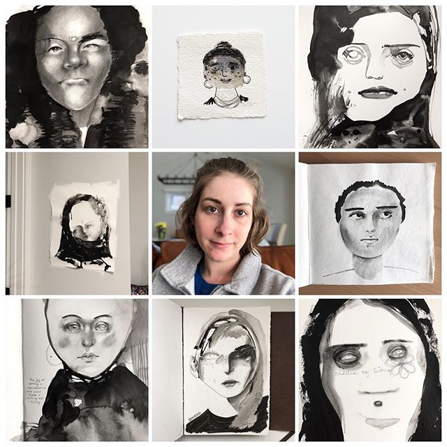 I will keep going. ⠀⠀⠀⠀⠀⠀⠀⠀⠀ #artvsartist #artvsartist2019 #artists #artworkyoushouldtotallyfollow #artistsbeingslepton #abstractportraits #blackandwhiteart #resilient #expressionism #carveouttimeforart #expressiveart