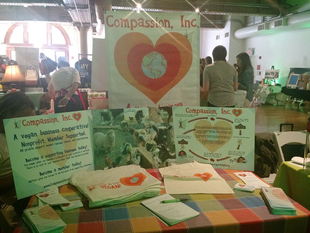 Photo by Linda Arcuri of Compassion, Inc.'s display at The Seed Market in NYC
