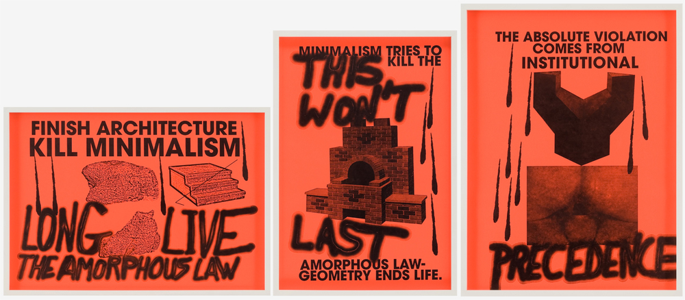 Sterling Ruby   Anti-Print Poster 1,2,3, 2007