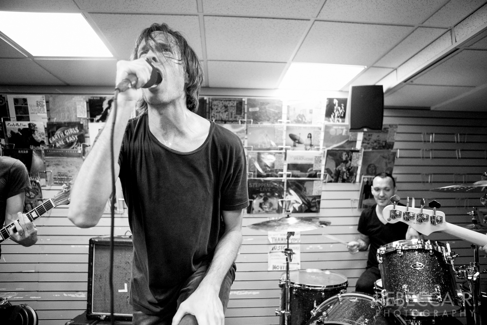 Photo by Rebecca Reed I've been a supporter of pretty much every band that Walter Schreifels has been in. So having his new band, Vanishing Life, play their first official show in the basement at Generation Records (where I book in-stores) was pretty special. VL also features members of Rise Against and …and you will know us by the trail of dead.  This wasn't the first time I tried to book Walter at the store. He had to cancel twice in the past, once because of a last minute booking issue and another time due to a volcanic eruption. So I was very happy to finally have him at the store.  The show and crowd was great. Check out Vanishing Life.
