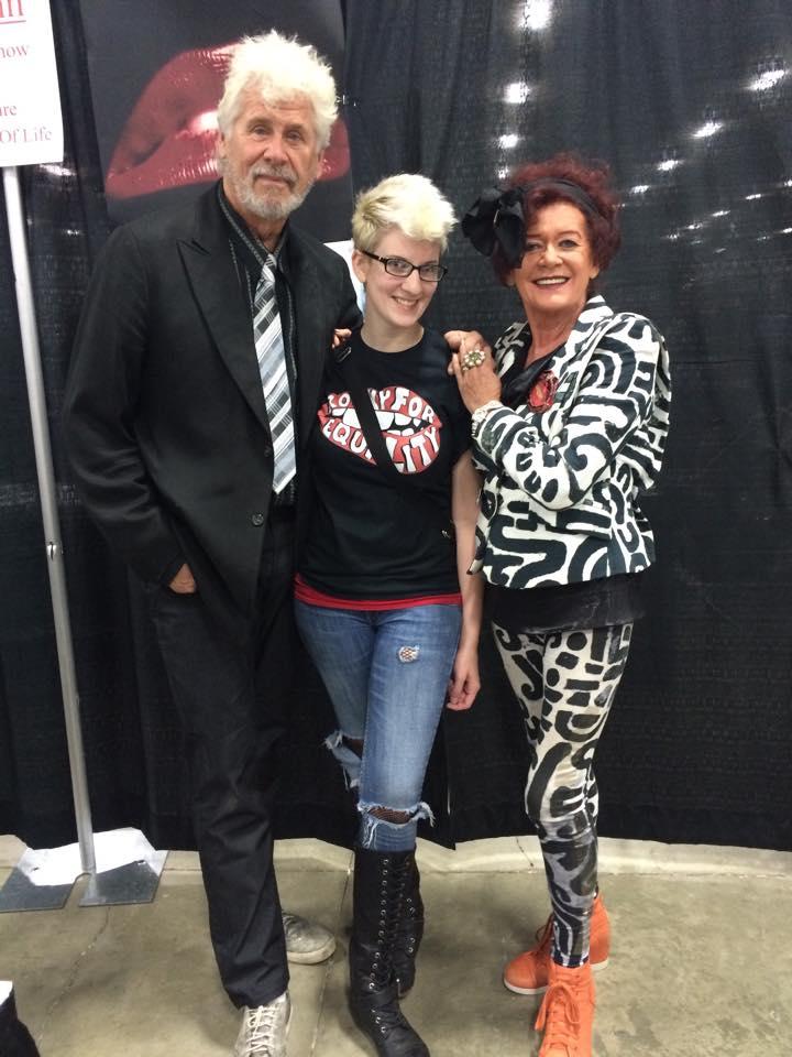 Becca, RFE's Creator,with the original Brad & Magenta (Barry Bostwick and Patricia Quinn)