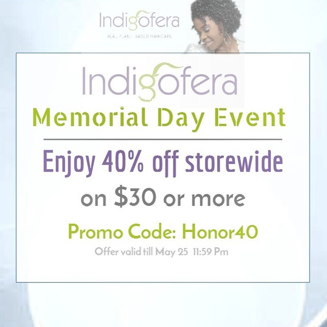 Happy Memorial Day! Shop Indigofera and Save. Link in Bio #naturalhair #realplantbasedhaircare #IndigoferaBeauty #sale #naturalhairproducts #coilyhair #kinkyhair #4chair #locs #Etsy #naturalista #naturalstylist #naturalhaircommunity #MemorialDay
