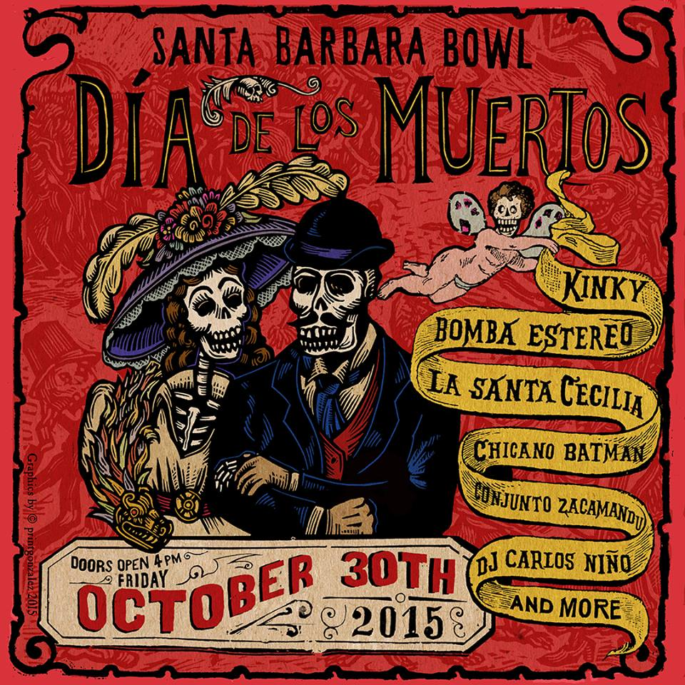 Dia de los Meurtos Celebration at the Santa Barbara Bowl