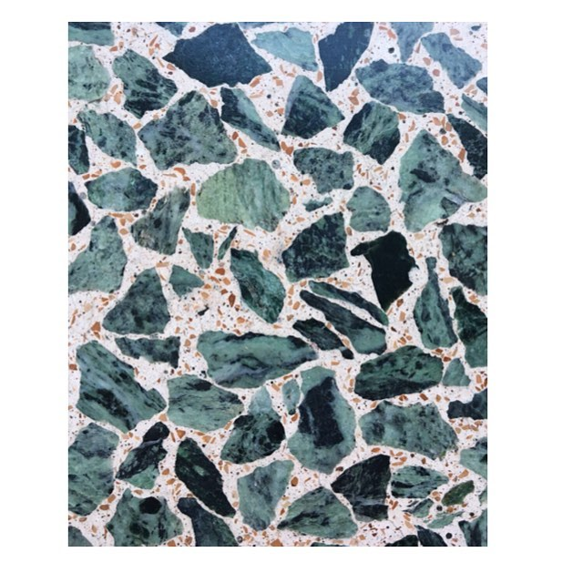 Material research ⚗ Verde Alpi ⛰ with Verona Marble grains🔸#terrazzo#veneziana#italy#madeinitaly#design#architecture#dutchdesign#dutcharchitecture#interior#archilovers#material#research#backtowork