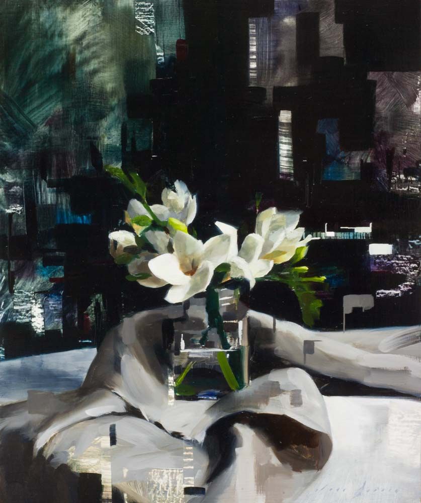 Digital Freesias and Linen