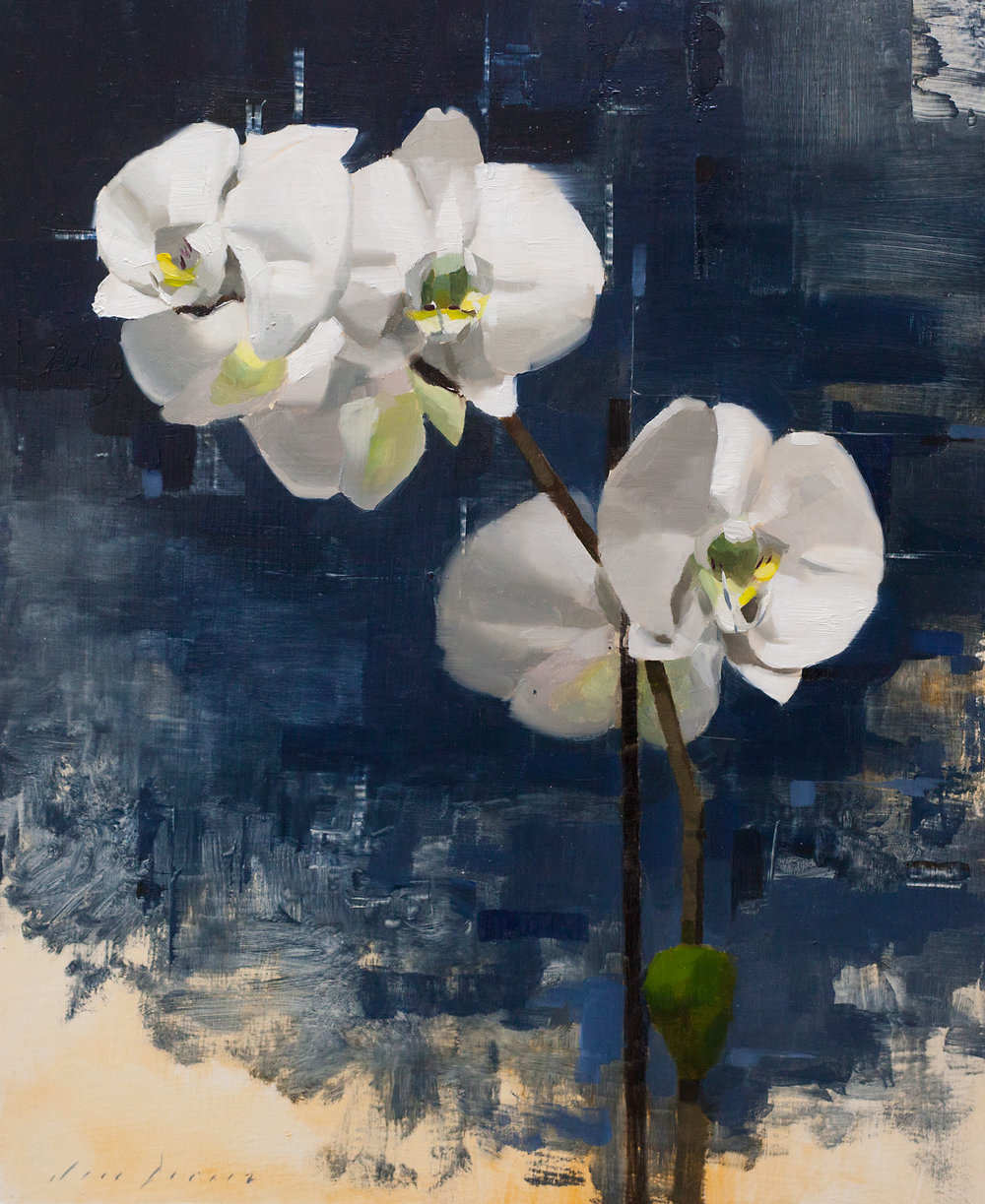 Orchids and Blue