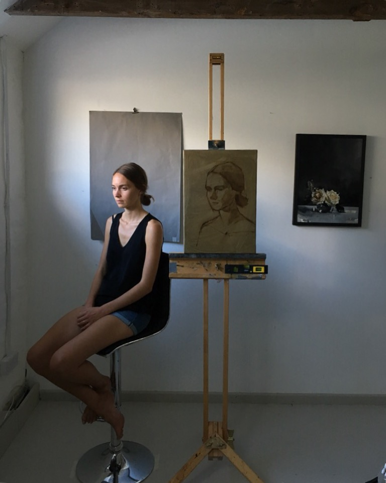 PORTRAITURE - 24TH - 27TH August 2019, Jon's Cornish Studio (materials provided)£350.00A four day workshop that will equip students, of any level of previous experience, with the necessary tools to achieve a likeness of the portrait model with oil paint. These tools explored on the course relate to four main relationships: 1)The shapes of features in relation to each other 2) the relationship between light and dark. 3) the relationship between warm and cool. 4) The relationship between soft and sharp edges.The process Jon will teach will be a method of observational painting with practitioners working from life with a model in the studio. Particular focus to each of these will be spread across the four days, culminating in an 'alla-prima' (wet-on-wet paint) sketch that utilises all of them at once.The tuition will be one-to-one as Jon goes around the group and as such the teaching is very much tailored to the level of each individual student whatever the level of their previous experience. Practitioners will work from life with a model in the studio.