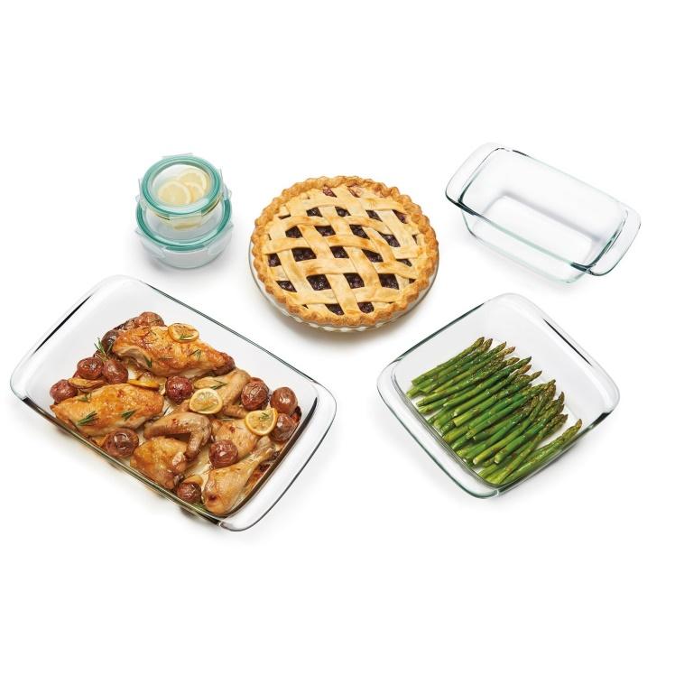 8 Piece Glass Bake, Serve & Store Set $49.99