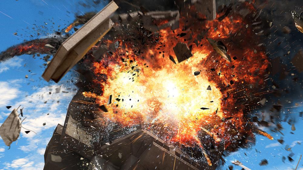 Explosion FX detail.