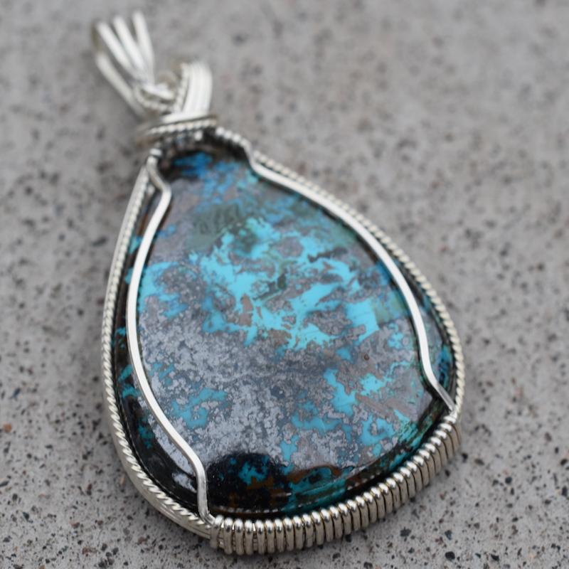 Azurite (Africa) & Silver