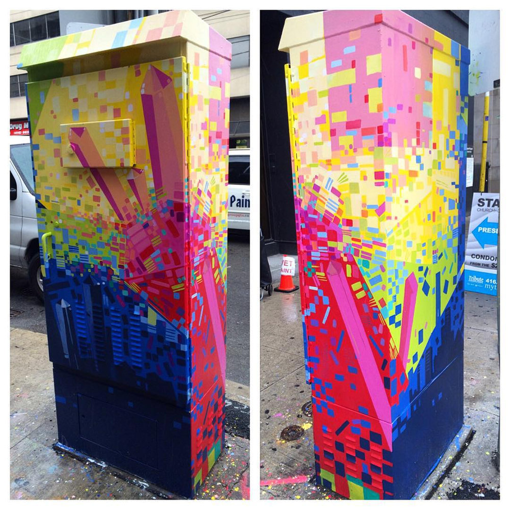 Copy of Genesis of a Rainbow, 2015. Outside the Box