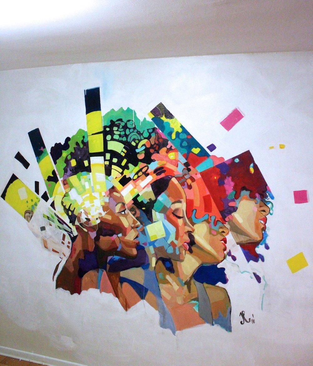 Copy of Regrowth, 2016. Latex Acrylics. 10'x12'
