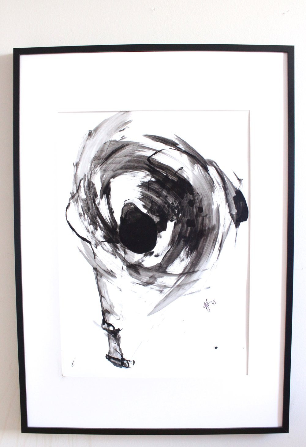 Uchimata Judo Throw, 2014. Ink on paper. 36x48