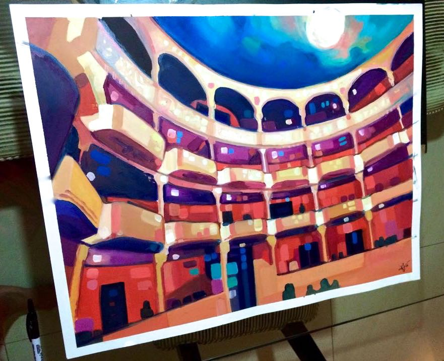 Teatro Nacional de Panama, 2013. Print 24x36