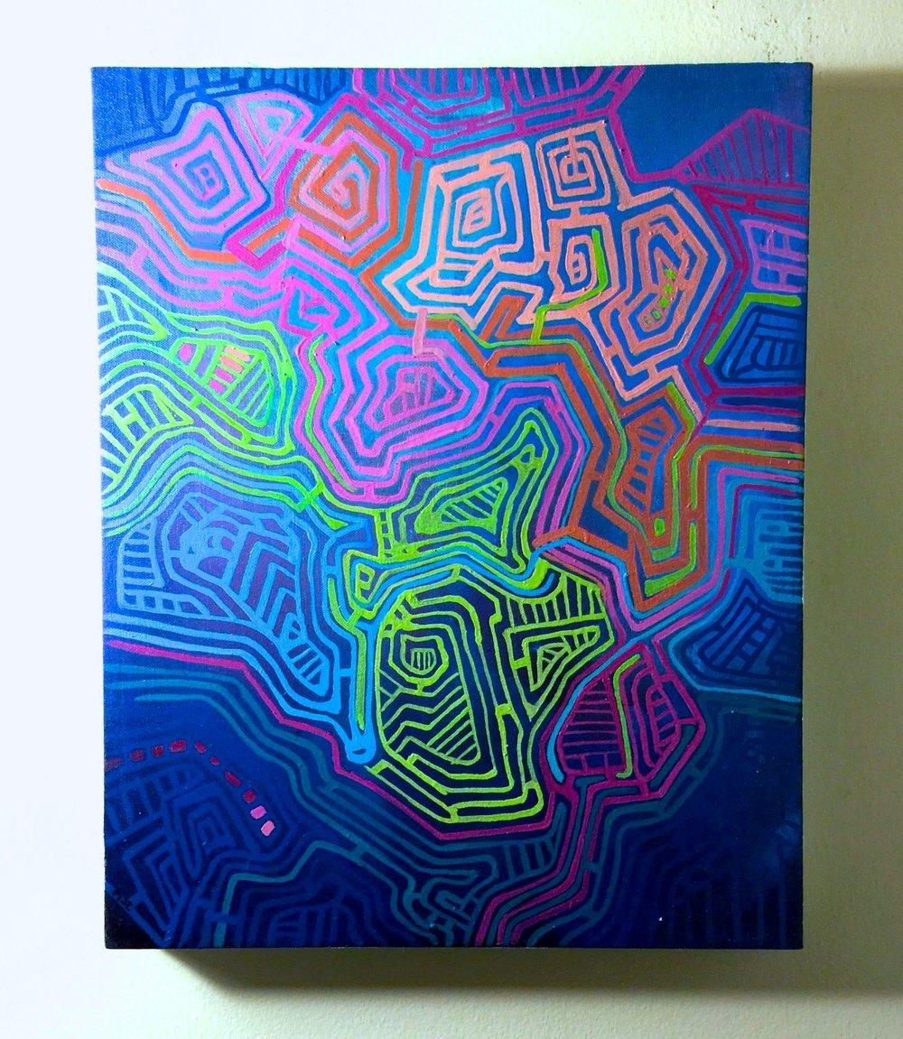 Copy of Mapa II, 2014. Oil on canvas. 18x24
