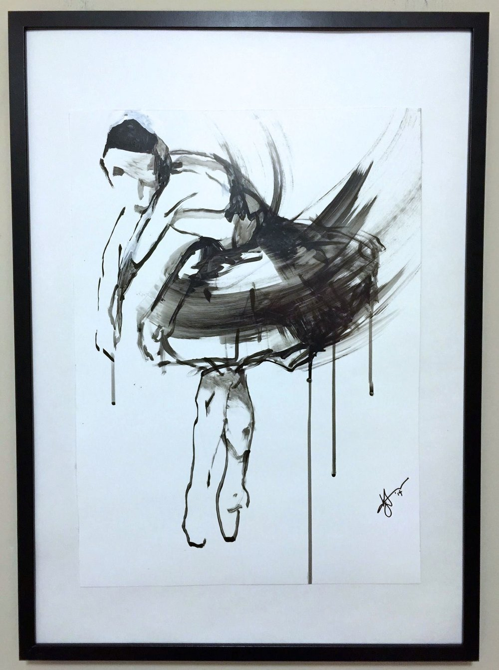 Copy of Dying Swan, 2015. Ink on paper. 24x18