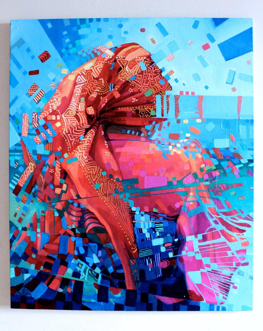 Copy of San Blas Wrap Life, 2015. Oil on canvas. 24x36