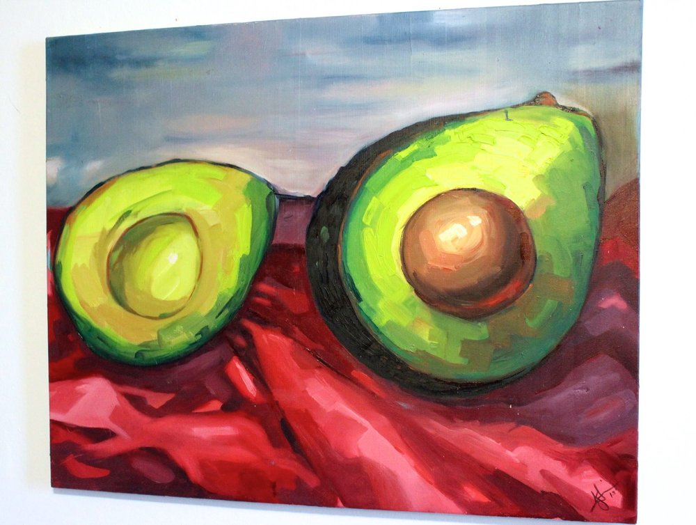 Avocado. Oil on canvas. 24x36