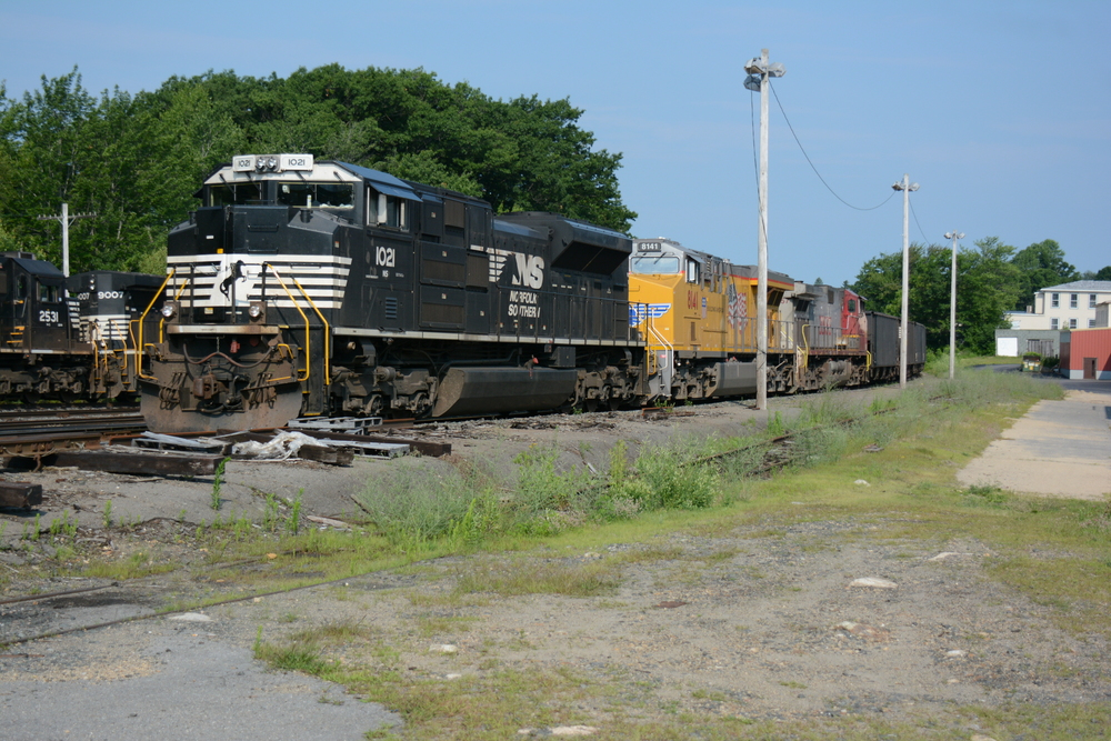 Pan AM RR Yard, Gardner, MA 8/14