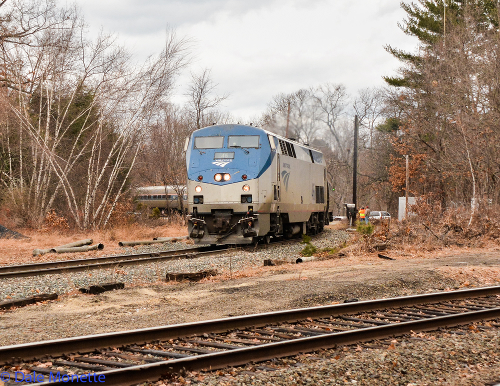 Amtrak Vermonter, last run through Millers Falls MA. 12/14