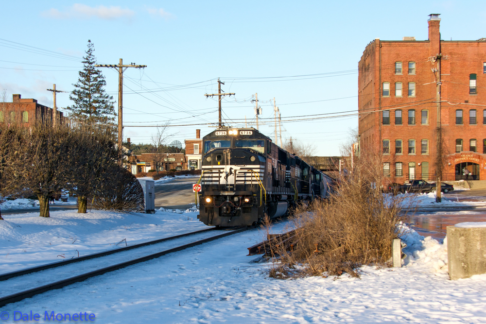 East Deerfield to Portsmouth daily freight runs through Orange MA.  12/14
