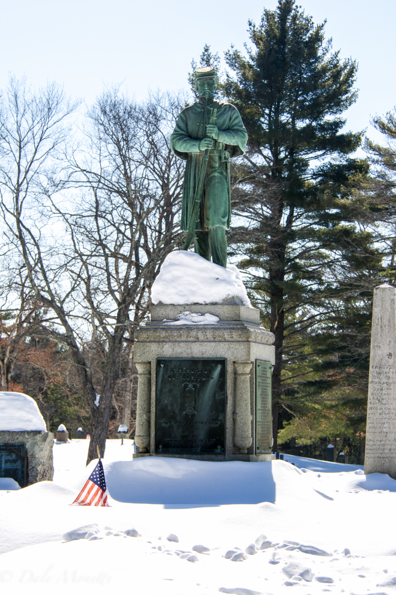 The Enfield monument to the Civil War soldiers. It sets in the Quabbin Park Cemetery in Belchertown on RT 9.  He always has good jokes !