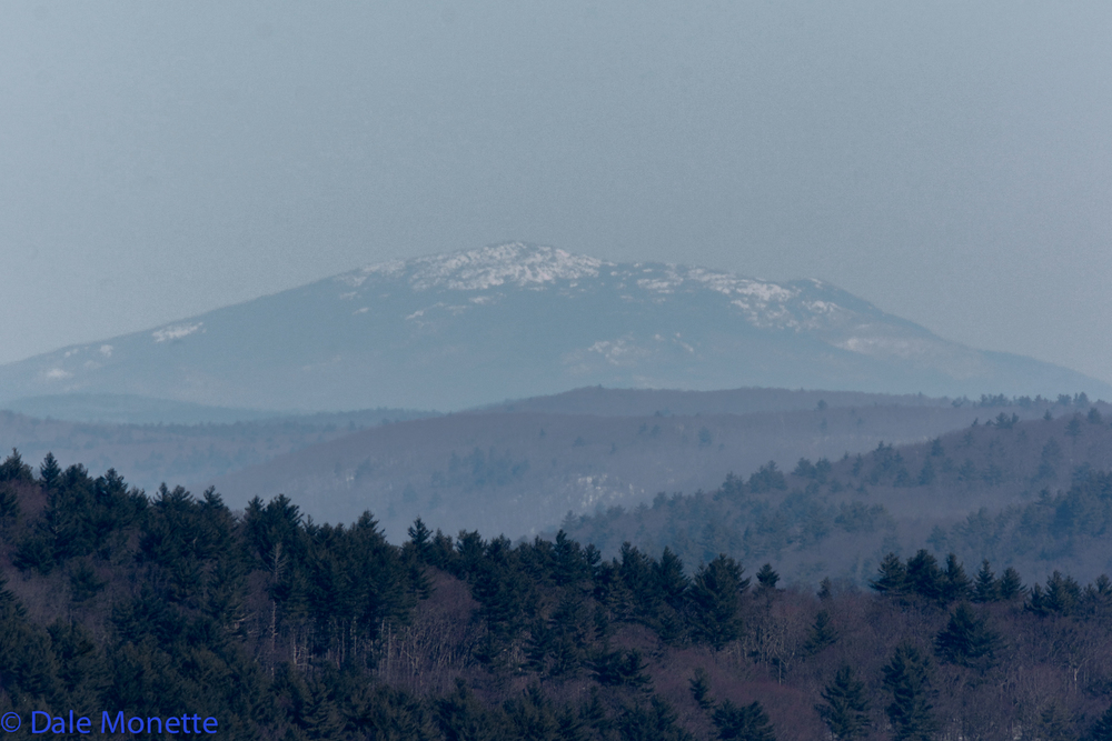 Mount Monadnock located in Dublin NH, 50 straight air miles from Quabbin. I took this on a crisp winter day with a 400mm lens.