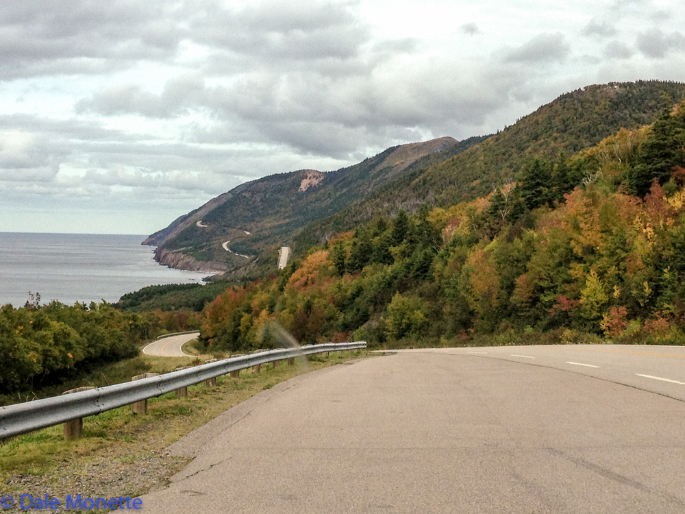 This is the Cabot Trail on the St. Lawrence Seaway side of the island.  This is the most photographed portion of the road along this coast.
