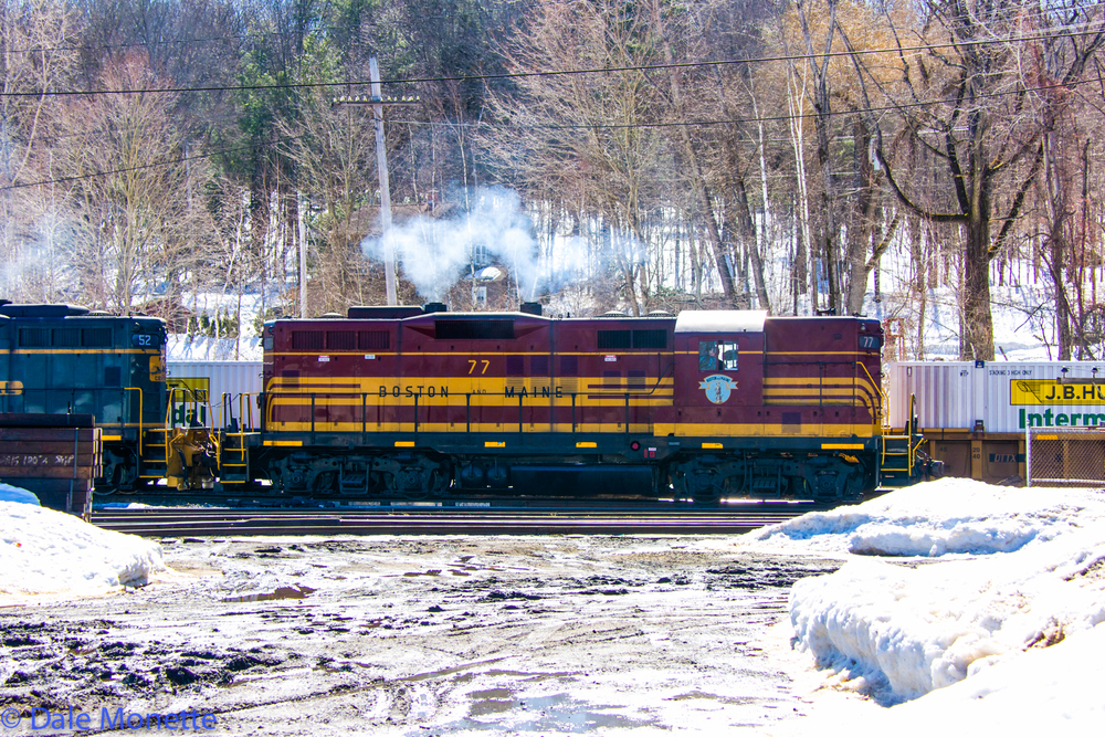 Another Alco in the old early 60's paint scheme working the East Deerfield yard. 3/12/15