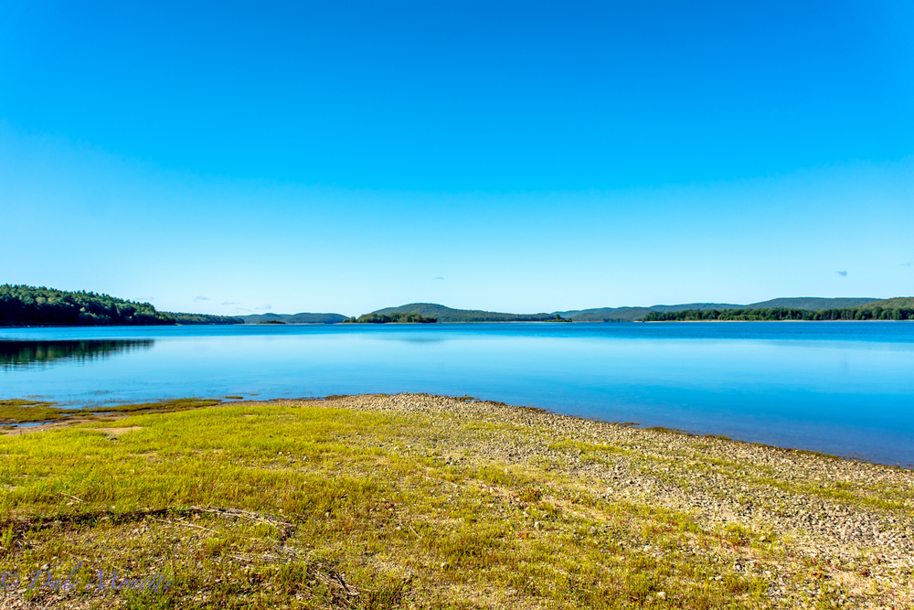 Today the sky was just the opposite at Quabbin than it was yesterday.  A beauty of  day today!
