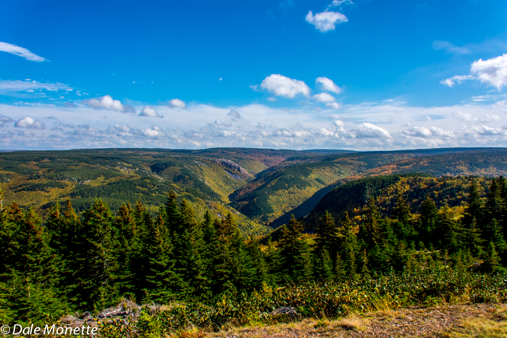 "Cape Breton Highlands National Park""s northern section looking east into the park.  10/14/15"