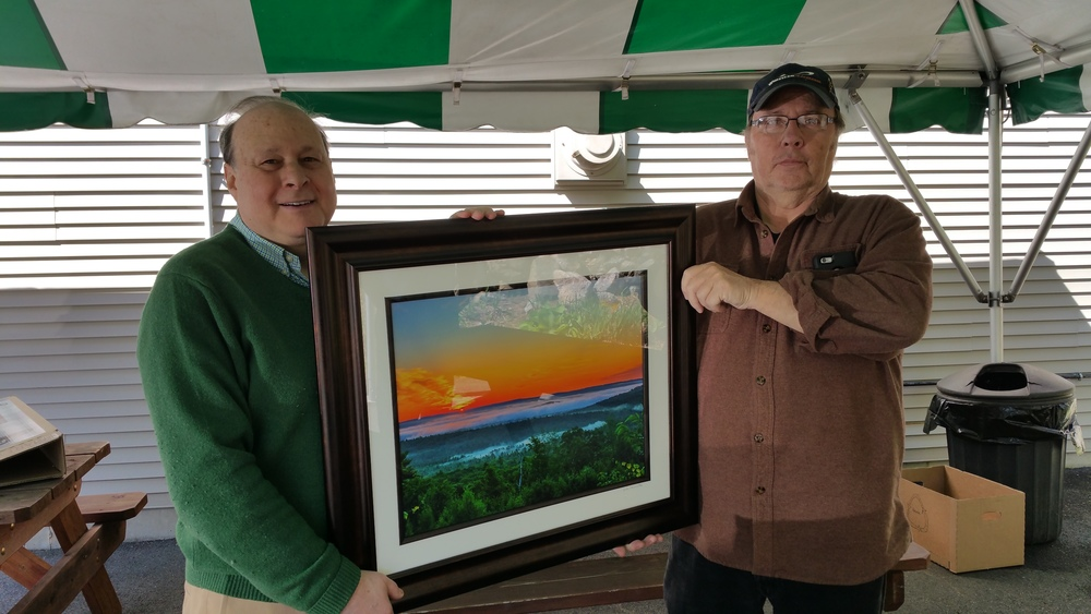 Former President of the MA Senate Stan Rosenberg saw the photo thats on display at Logan International Airport in Terminal B and wanted to buy one. I presented it to him on a Saturday morning at the New Salem General Store. It will hang in the  Massachusetts State House !